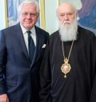 With His Holiness patriarch Filaret of Ukrainian Orthodox Church of Kiev Patriarchate.